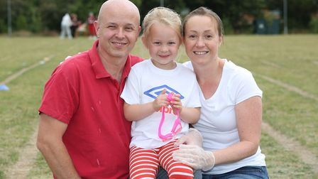 Scott and Catherine Everett with their daughter Anna, 5. Scott has motor neurone disease and his fam
