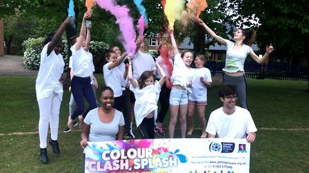Students and staff from Stevenage's Thomas Alleyne Academy practise ahead of this month's ColourClas