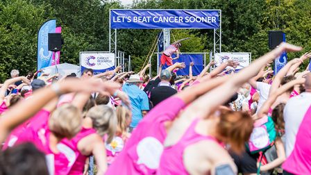 Stevenage Race for Life 2017: Stretching out. Picture: Simon Jenkins