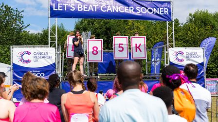 Stevenage Race for Life 2017: The target amount of money which is expected to be raised, with Courtn