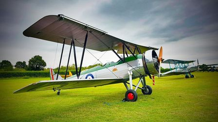 The airshow at Shuttleworth on Saturday evening. Picture: @roadpolicingBCH via Twitter