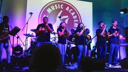 STAX perform at Hitchin Town Hall. Picture: Hitchin Initiative