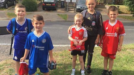The Bradley Lowery Foundation fundraiser at Peartree Spring Primary School. Picture: Charlotte Nash