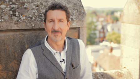 Andy Gibbs from the British Schools Museum stars in Hitchin TV's History of Hitchin: Britain in a Nu