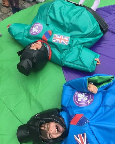 Flat out from sumo wrestling. Picture: Hitchin Scouts