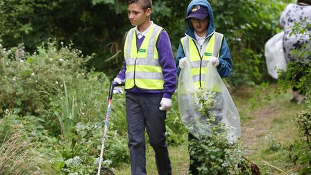 Wilshere-Dacre pupils are doing selfless acts for the community by litter picking in the Triangle Ga
