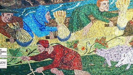 Part of the design for the mosaics in Sandy