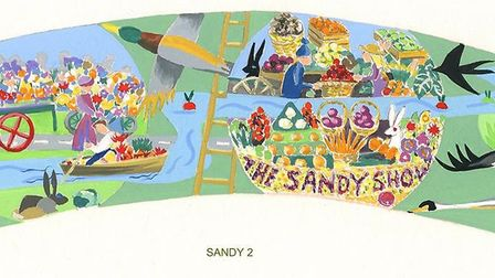 The design for one of the Sandy mosaics