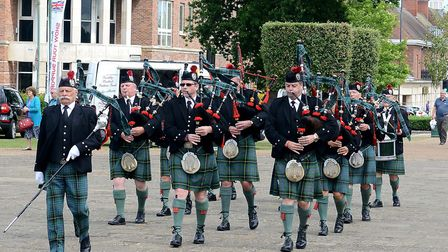 The Harpenden Pipe Band on Armed Forces Day 2017 in Letchworth. Picture: Maureen Millard