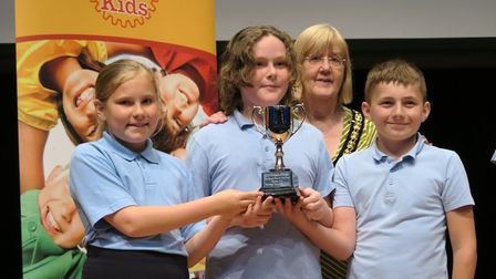 Rotay Speaks competition winning team from Aston St Mary's Church of England Primary School with may