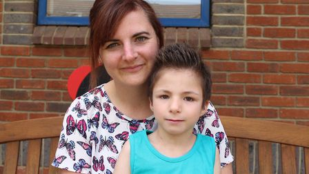 Beckie Ward from Stevenage, pictured with her daughter Lottie, is running the Keech Hospice Care Col