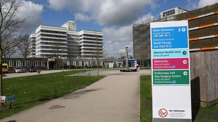 The cladding on Stevenage's Lister Hospital's main tower block will be tested for its flammability