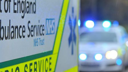 A boy was taken to hospital for treatment after colliding with a car near Highfield School.