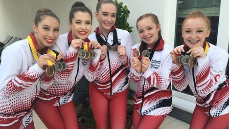 The Gold, Silver and Bronze medal winning: soloist, trio and quartet performers, Megan Luscombe, Eli
