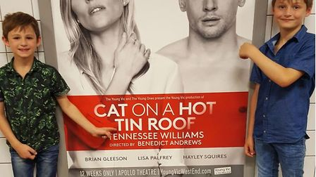 Ethan and Flynn Riley are excited about their forthcoming roles in West End play Cat on a Hot Tin Ro