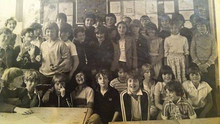 Pupils during the school's early days