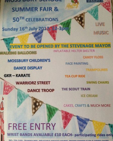 The poster for the 50th anniversary fete