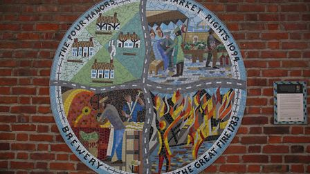 The mosaic in Potton. Picture: Danny Loo