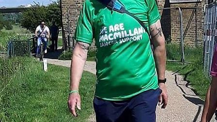 Trevor Broom after his amazing weighloss effort - he now weights just 14.4 stone.