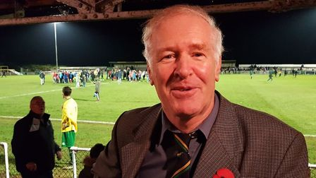 Hitchin Town club secretary and stalwart Roy Izzard after the Arsenal game. Picture: Layth Yousif