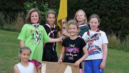 Hitchin cubs climbed Windmill Hill to aid a charity trip to Nepal. Picture: Graham Pither