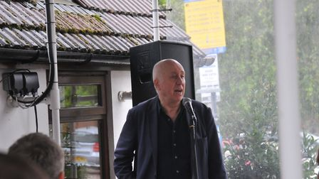 Comedian and former Red Dwarf actor Norman Lovett performs at the Garden City Brewery in Letchworth.