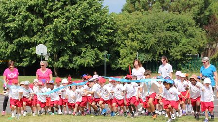 Staff and pupils at William Ransom Primary School took part in their own version of the Race For Lif