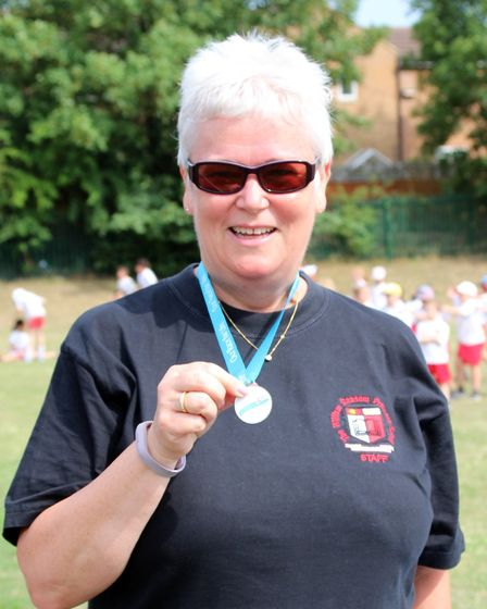 William Ransom head teacher Mary Driver took part in their very own Race For Life