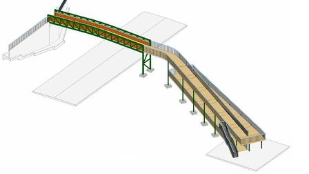A drawing of how the bridge over the A507 at Arlesey might look, viewed from the west. Picture: Thom