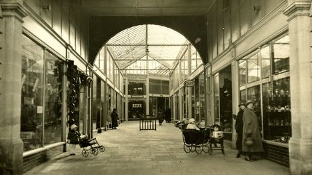 The Arcade in Letchworth, c. 1920s. Picture: Garden City Collection