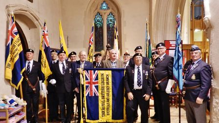 The dedication of the new standard for the new amalgamated Stotfold and Arlesey branch of the Royal