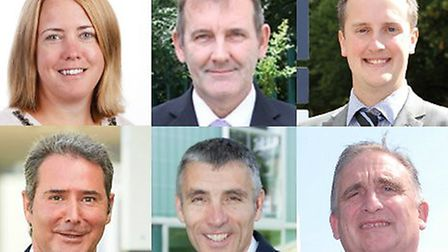 The headteachers of the six Stevenage secondary schools, clockwise from top left: Beth Honnor of Mar
