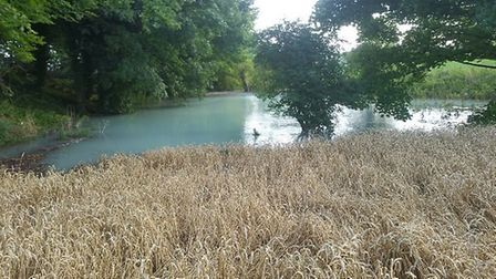 A flooded field near Baldock. Picture: Affinity Water