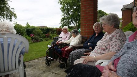 Archers Court residents enjoy the view which would be blocked by the planned new building of Hitchin