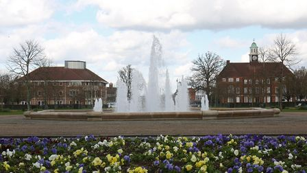 Broadway Gardens in Letchworth, the original garden city founded following the lead of Sir Ebenezer