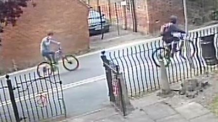 Do you recognise either of these youngsters? Police want to talk to them in connection with a bicycl