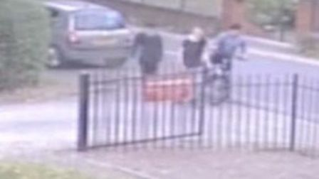 Do you recognise any of these youngsters? Police want to talk to them in connection with a bicycle t