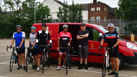 The Bedford to Hunstanton post office bike riders. Picture: Sue Ryder St John's Hospice