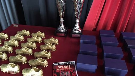 The trophies handed out by Boro boss Darren Sarll