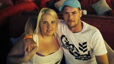 Carla Holbrook and her partner Wayne Jeffs, who was tragically found dead at the weekend. Picture: C