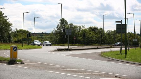 The slip road from A1(M) northbound at J9 coming on to Letchworth Gate. Picture: Danny Loo