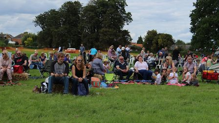 The crowd at Busk Till Dusk at Sue Ryder St John's Hospice in Moggerhanger during the Big Weekend. P