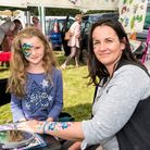 Face painting was also on offer on the day. Picture: SAFFRON PHOTO