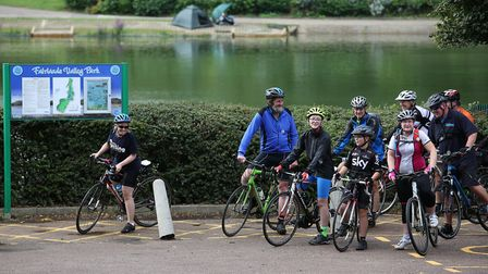 The Stevenage Cycling UK group celebrate Cycling UK's 139th birthday. Picture: Danny Loo