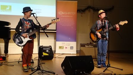 The Scourfield brothers performing as Back to Back Bros.