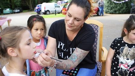 Guysfield Care Home Summer Fete: Emma Cooper paints the children's faces. Picture: Karyn Haddon