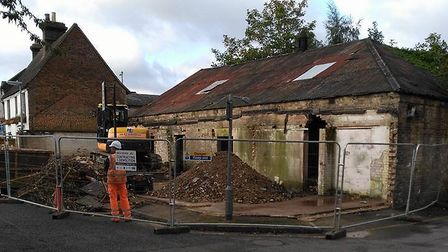 Some of the industrial units that are being turned into flats in Bonds Lane.