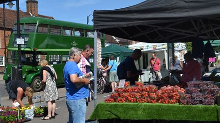Stevenage farmers' market is held on the second Saturday of every month. CREDIT: Hugh Madgin