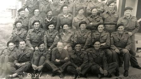 George Clark with his company back row second from left.
