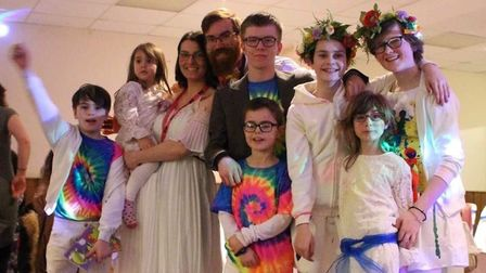 Christopher, Evie, Amy, Daniel, Christian, Sebastian, Felicity, Emily and Lucy. Picture: Amy Allen